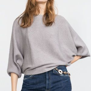 Zara Batwing Knit Sweater